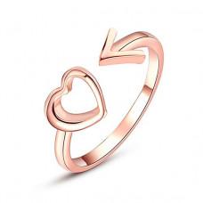 KL107-G Кольцо Сердце и стрелка, цвет роз.золот.