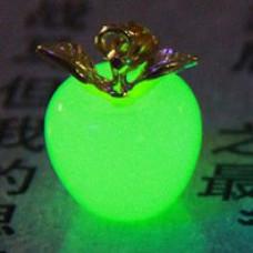 LGK001-2 Светящийся кулон Яблоко 19х14мм, нефрит, цвет свечения зеленый