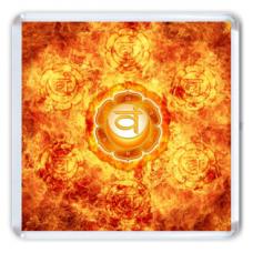 MA012 Магнит Свадхистана чакра 6,5х6,5см, акрил