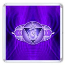 MA016 Магнит Аджна чакра 6,5х6,5см, акрил