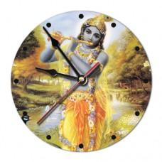 MCH001 Часы настенные Кришна 20см, пластик