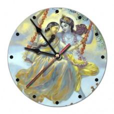 MCH003 Часы настенные Кришна и Радха 20см, пластик