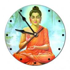 MCH004 Часы настенные Будда 20см, пластик