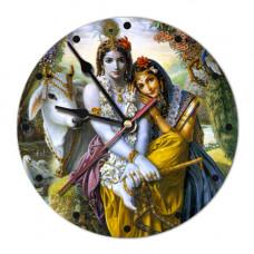 MCH016 Часы настенные Кришна и Радха 20см, пластик