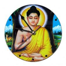MCH023 Часы настенные Будда 20см, пластик