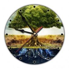 MCH047 Часы настенные Дерево Жизни 20см, пластик
