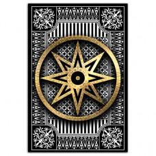 MI097 Магнитный талисман Звезда любви Иштар 7х10см винил