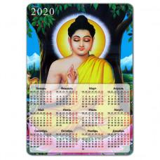 MIK002 Магнитный календарь Будда 20х14см, винил