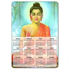 MIK004 Магнитный календарь Будда 20х14см, винил