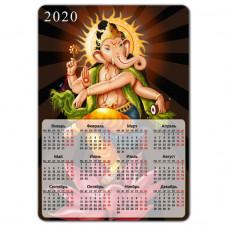 MIK005 Магнитный календарь Ганеша 20х14см, винил