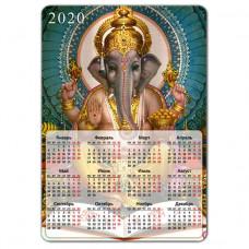 MIK006 Магнитный календарь Ганеша 20х14см, винил