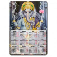 MIK007 Магнитный календарь Ганеша 20х14см, винил
