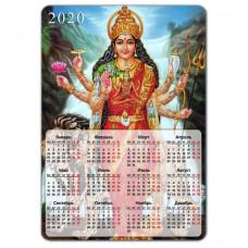 MIK009 Магнитный календарь Дурга 20х14см, винил