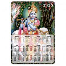 MIK010 Магнитный календарь Кришна 20х14см, винил