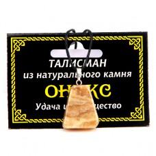 MK012 Талисман из натурального камня Оникс со шнурком