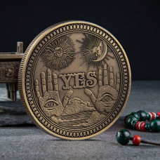 MN001 Монета сувенирная YES - NO 40х3мм, цвет бронз.