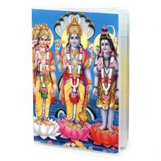 MOB042 Обложка для паспорта Брахма, Вишну, Шива, ПВХ