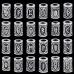 MR14 Набор рун - бусин с чёрным бархатным мешочком и брошюрой, 24 шт.
