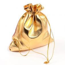MS008G Золотой блестящий мешочек 10х12см