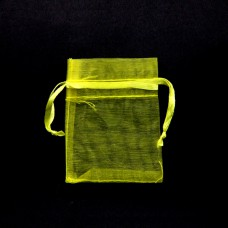 MS011-01 Маленький мешочек из органзы 5х7см, цвет жёлтый