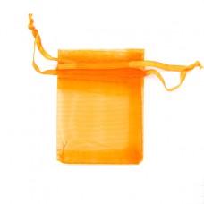 MS011-02 Маленький мешочек из органзы 5х7см, цвет оранжевый