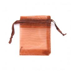 MS011-04 Маленький мешочек из органзы 5х7см, цвет коричневый