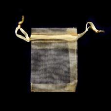 MS011-07 Маленький мешочек из органзы 5х7см, цвет золото