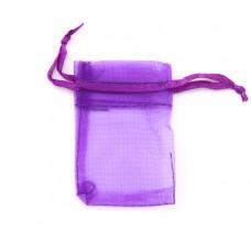 MS011-08 Маленький мешочек из органзы 5х7см, цвет фиолетовый