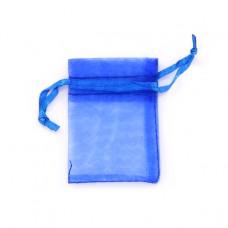 MS011-11 Маленький мешочек из органзы 5х7см, цвет синий