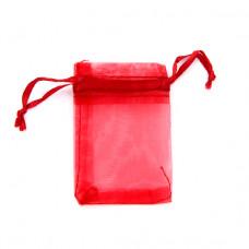 MS011-14 Маленький мешочек из органзы 5х7см, цвет тёмно-красный