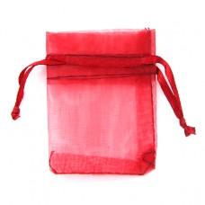 MS011R Мешочек органза 5х7см красный