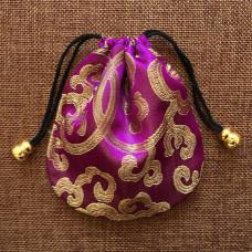 MS019-03 Мешочек из парчи 11х11см, цвет фиолетовый
