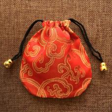 MS019-07 Мешочек из парчи 11х11см, цвет красный