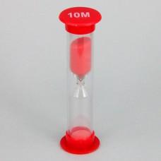 PS002-10M Песочные часы на 10 минут, пластик, стекло