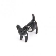 SE042 Серьга - гвоздик Собака с бусами (1 шт.)
