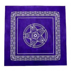 SK002 Скатерть для гадания на Таро 50х50см фиолетовая, спанбонд