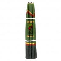 SVI002 Иерусалимские свечи зелёные 24,5см 33шт.