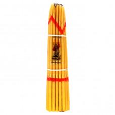 SVI003 Иерусалимские свечи жёлтые 24,5см 33шт.