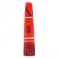 SVI004 Иерусалимские свечи красные 24,5см 33шт.
