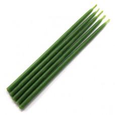 SVM1-G Свеча магическая 15х0,5см, время горения более 25мин., 100% воск, цвет зелёный