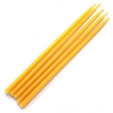 SVM1-Y Свеча магическая 15х0,5см, время горения более 25мин., 100% воск, цвет желтый
