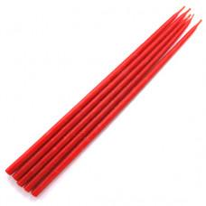 SVM5-R Свеча магическая 32х0,9см, время горения более 2ч.30мин., 100% воск, цвет красный