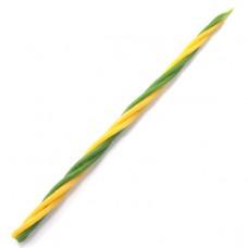 SVM7-03 Скрутка из 4-х свечей Деньги, 100% воск, 21см, 2 жёлт., 2 зелён.