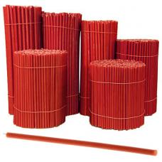 SVR-010 Свечи восковые Красные № 10, 355х11мм, время горения 3ч30мин, 10 штук
