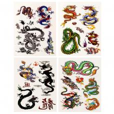 TTE028-13 Временные татуировки набор 4 листа