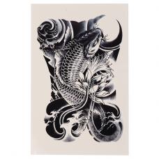 TTF010-35 Временная татуировка Карп