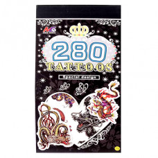 TTI012-02 Временные татуировки набор 5 листов 8,5х16см Драконы