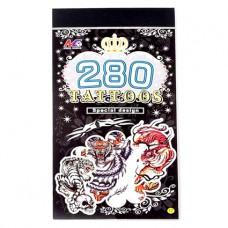 TTI012-04 Временные татуировки набор 5 листов 8,5х16см Тигры