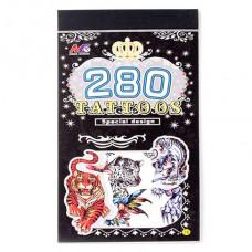 TTI012-05 Временные татуировки набор 5 листов 8,5х16см Тигры