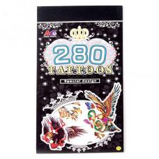 TTI012-06 Временные татуировки набор 5 листов 8,5х16см Птицы